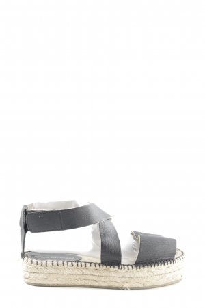 Adolfo Dominguez Platform Sandals black casual look