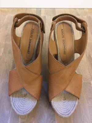 Adolfo Dominguez High-Heeled Sandals cognac-coloured