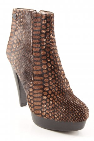 Adolfo Dominguez Zipper Booties animal pattern animal print