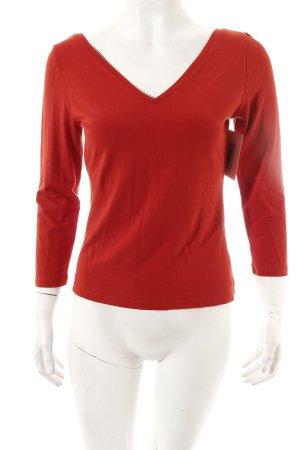Adolfo Dominguez Shirt dunkelorange minimalistischer Stil
