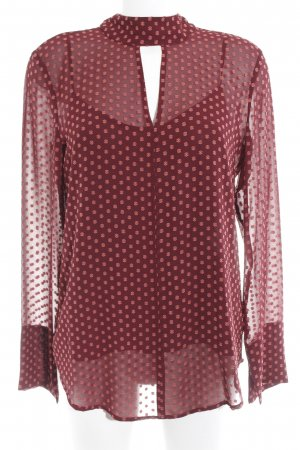 Adolfo Dominguez Transparent Blouse bordeaux-apricot spot pattern casual look