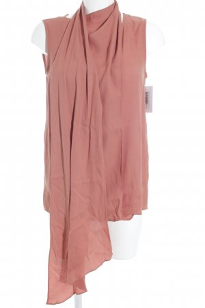 Adolfo Dominguez Wraparound Blouse russet simple style