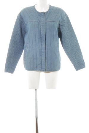 ADPT. Veste en jean bleuet motif rayé style mode des rues