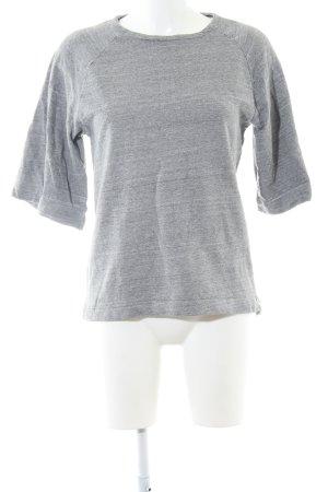 ADPT. Pull à manches courtes gris clair moucheté style décontracté