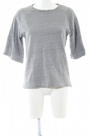 ADPT. Short Sleeve Sweater light grey flecked casual look