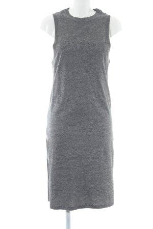 ADPT. Maxi Dress light grey flecked casual look