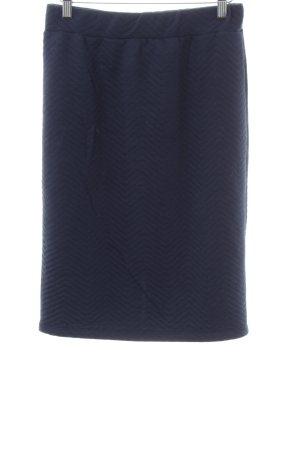 ADPT. Jupe mi-longue bleu motif de courtepointe style d'affaires