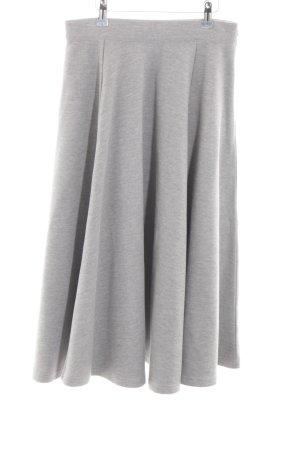 ADPT. Jupe mi-longue gris clair moucheté style décontracté