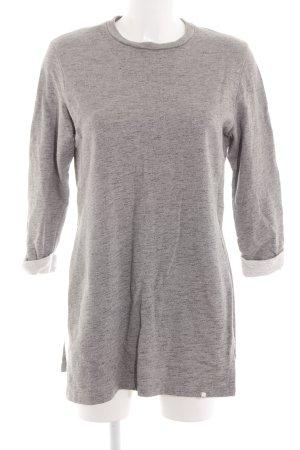 ADPT. Sweatshirt gris clair moucheté style décontracté