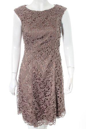 Adrianna Papell Abendkleid graubraun Ornamentenmuster Elegant