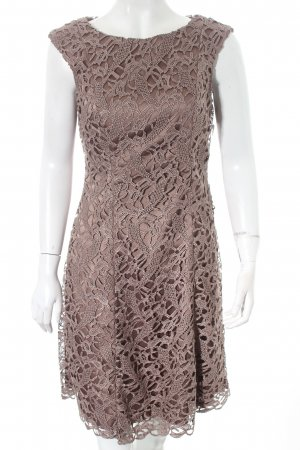 Adrianna Papell Evening Dress grey brown embellished pattern elegant