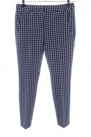 Adrianna Papell Suit Trouser blue-white allover print casual look