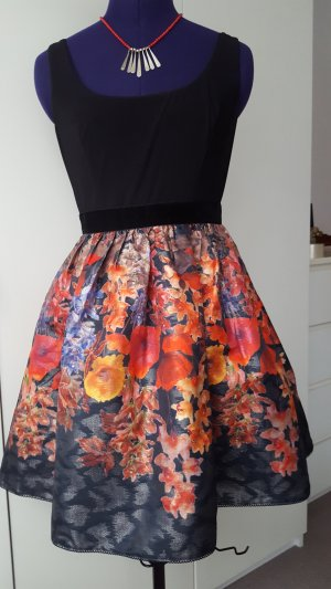Adrianna Papell black floral sleeveless dress, size 36