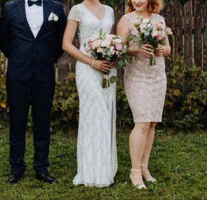 Adrianna Papell Wedding Dress white