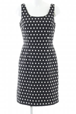 Adrianna Papell Bustier Dress black-natural white spot pattern business style