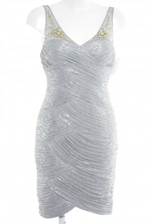 Adrianna Papell Cocktail Dress silver-colored extravagant style