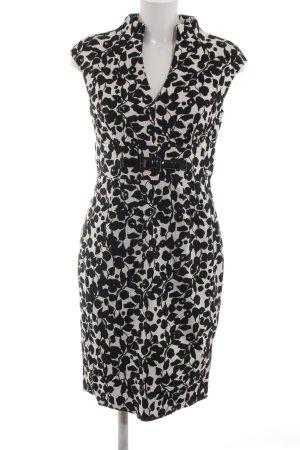 Adrianna Papell Sheath Dress black-natural white allover print elegant