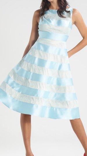 Adrianna Papell Kleid Abendkleid Cocktailkleid hellblau spitze 36