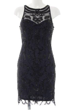 Adrianna Papell Robe à manches courtes bleu foncé-noir motif de fleur
