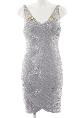 Adrianna Papell Mini-jurk lichtgrijs-zilver elegant