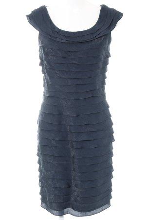 Adrianna Papell Abito a balze blu elegante