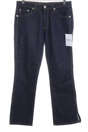 Adriano Goldschmied 7/8 Jeans dunkelblau meliert Street-Fashion-Look
