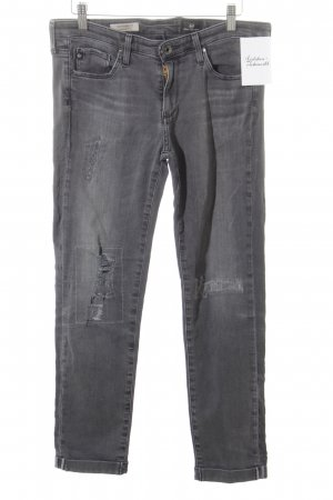 Adriano Goldschmied 7/8 Jeans grau Destroy-Optik