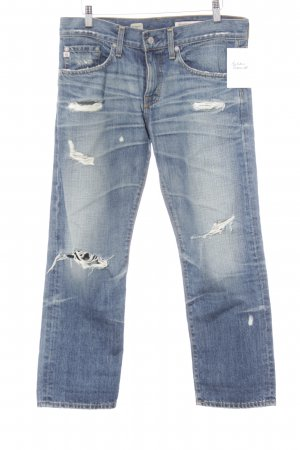 Adriano Goldschmied 7/8 Length Jeans steel blue distressed style