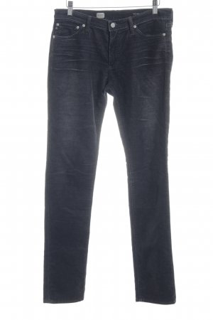 Adriano Goldschmied Corduroy Trousers dark grey flecked casual look