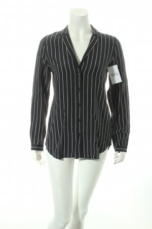 Adriano Goldschmied Shirt Blouse dark blue-white striped pattern classic style