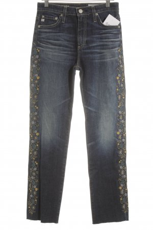 Adriano Goldschmied High Waist Jeans florales Muster Street-Fashion-Look
