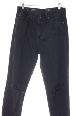 Adriano Goldschmied High Waist Jeans schwarz Destroy-Optik