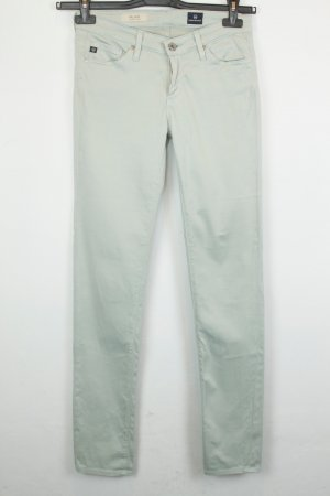 Adriano Goldschmied Drainpipe Trousers pale green cotton