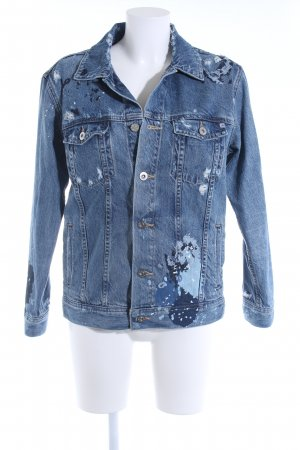 Adriano Goldschmied Denim Jacket steel blue distressed style