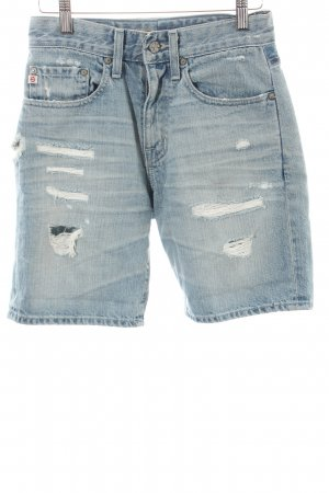 Adriano Goldschmied Denim Shorts light blue distressed style