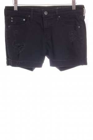 Adriano Goldschmied Denim Shorts black distressed style