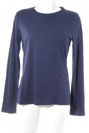Adriano Goldschmied Longsleeve dark blue-black herringbone pattern casual look
