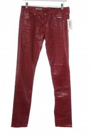 Adriano Goldschmied Drainpipe Trousers dark red casual look