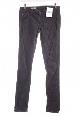 Adriano Goldschmied Drainpipe Trousers black-grey houndstooth pattern