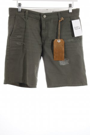Adriano Goldschmied Shorts khaki distressed style