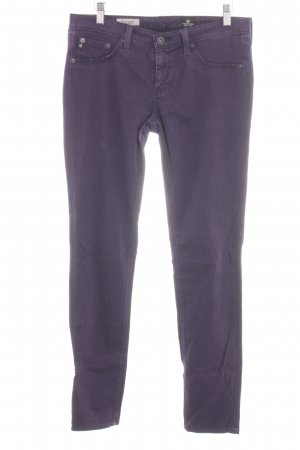 Adriano Goldschmied Skinny Jeans lilac allover print casual look