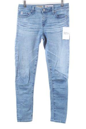Adriano Goldschmied Skinny Jeans babyblau Washed-Optik