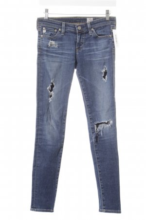 Adriano Goldschmied Skinny Jeans blau Destroy-Optik