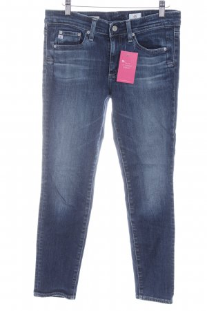 Adriano Goldschmied Skinny Jeans dark blue flecked casual look