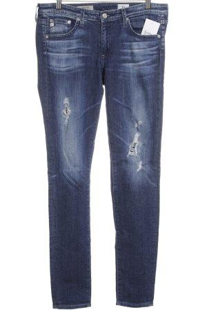 Adriano Goldschmied Skinny Jeans dunkelblau Street-Fashion-Look
