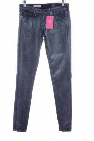 Adriano Goldschmied Skinny Jeans graublau Metallic-Optik