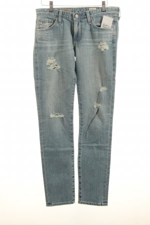 Adriano Goldschmied Skinny Jeans hellblau Destroy-Optik