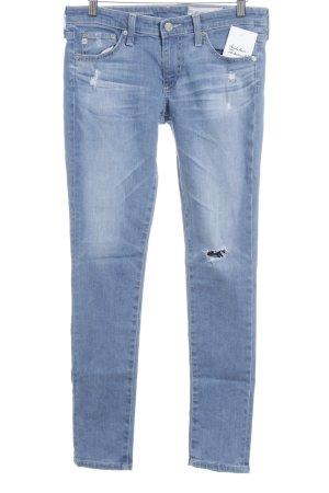 Adriano Goldschmied Skinny Jeans himmelblau Destroy-Optik
