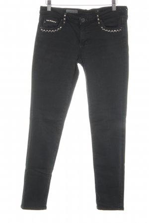 Adriano Goldschmied Skinny Jeans schwarz Casual-Look