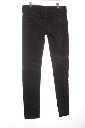 Adriano Goldschmied Skinny Jeans schwarz Used-Optik